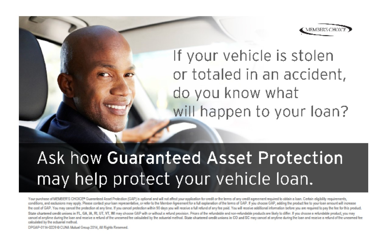 Ask how Guaranteed Asset Protection may help protect your vehicle loan